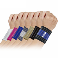 High quality knitting sport compression wrist sleeve for support with bandage