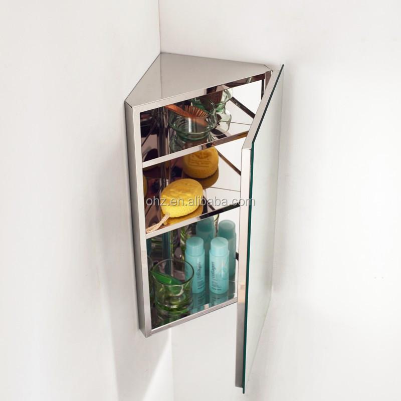 Modern Waterproof Stainless Steel Bathroom Corner Cabinet Bathroom Furniture A7055 Buy Moderne Badkamer Meubels Hoek Kast Badkamermeubel Product On Alibaba Com