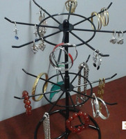 metal spinning 2 tier store jewelry display rack