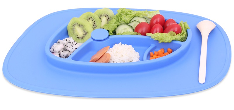 Unbreakable Silicone Buffet Dinner Plate/ adsorbable kids dinner plate wholesale