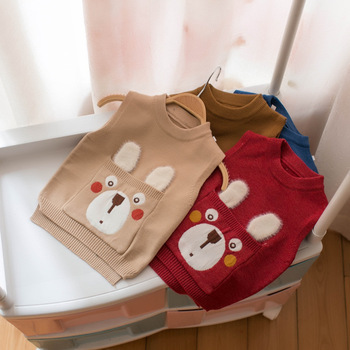 spring Autumn Winter New Boys and Girls Sweaters Vest Baby Outwear Children's Knitting Waistcoats