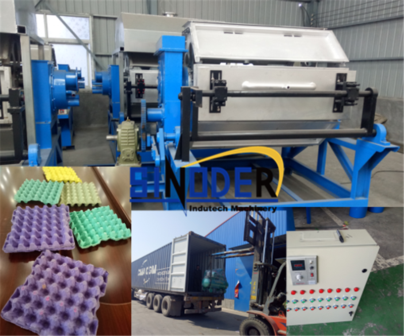 Automatic egg tray production machine quail egg packaging equipment