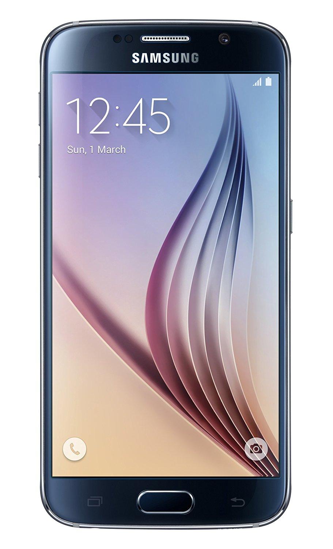Samsung Galaxy S6 G920a 64GB Unlocked GSM 4G LTE Octa-Core Smartphone w/ 16MP Camera - Black - International Version, No Warranty