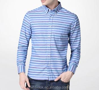 Wholesale Mens Clothing Men S Vintage Stripe Oxford Shirt Cotton
