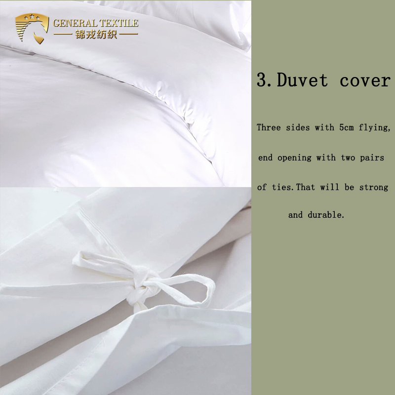 P81 Chinese 100% cotton satin bed sheet hotel luxury bedding set