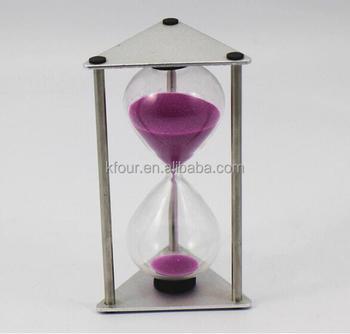 Kf-sl-wj022(metal+ Glass)metal Triangle 3 Minute Kitchen Clock Egg Timer  Buy Hourglass 10 Minute Hourglass Timer - Buy 120 Minute Timer,10 Minute  Sand