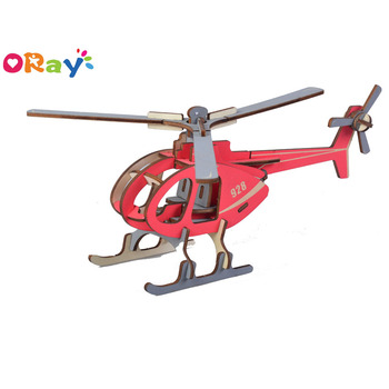 Oray 3d plane puzzle kids DIY handmade craft gift 3D wooden puzzle craft
