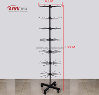 7 Rows high standing metal hook hanging display stand