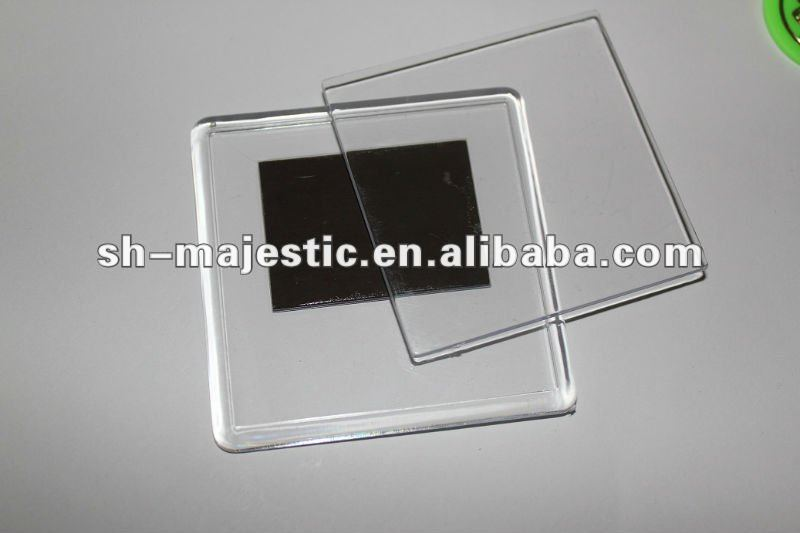Clear Transparent Square Acrylic Fridge Magnets Photo Frame