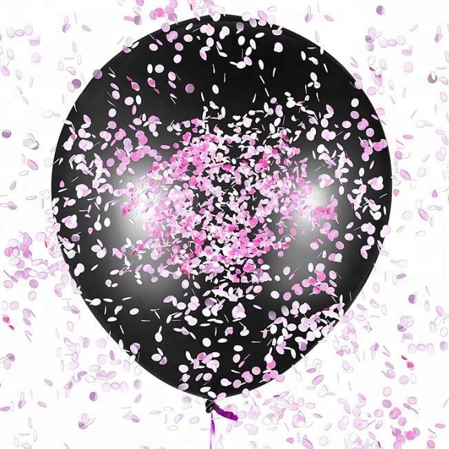 36 Inch Giant Black Gender Reveal Balloon For Baby Shower Decoration