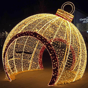 Large outdoor holiday lights commercial grade Christmas lgihts show giant  outdoor lighted walk through Christmas ornament - Large Outdoor Holiday Lights Commercial Grade Christmas Lgihts Show
