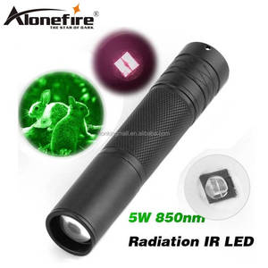 AloneFire Camping Light Hunting Lamp Flashlight IR Lamp 5W Torch 850nm Zoom Infrared Radiation IR LED Night Vision flashlight IR