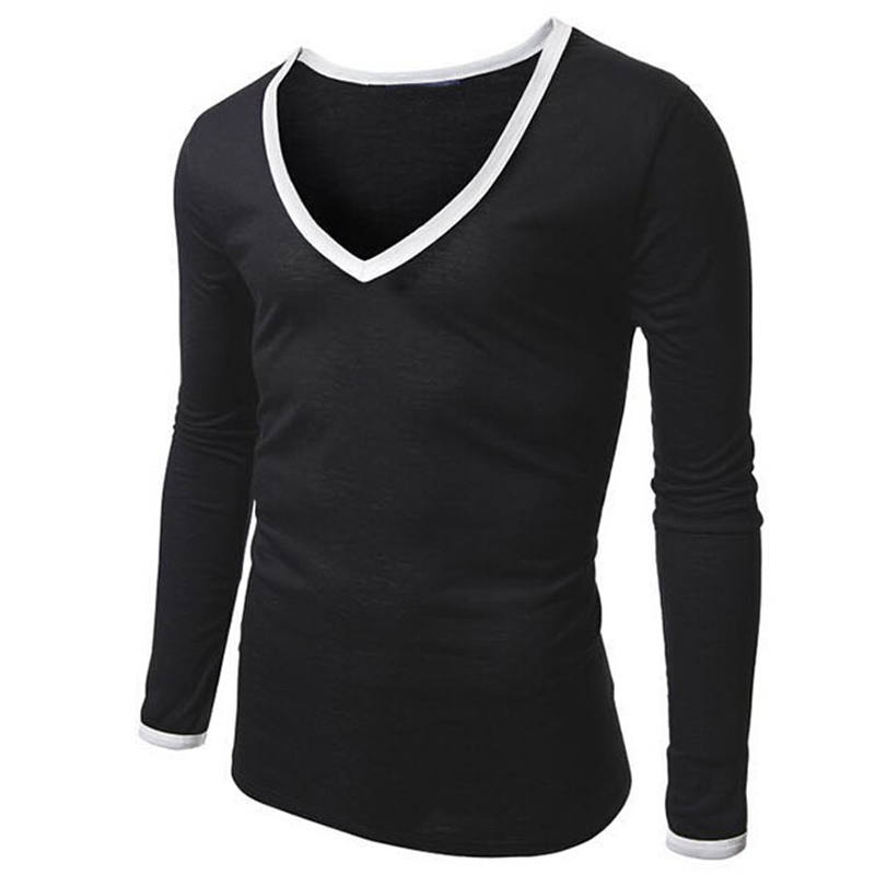 5b8eed23e Get Quotations · 2015 Autumn Striped T-Shirt Men Fashion Casual Slim Fit  Long Sleeve T Shirt Spell