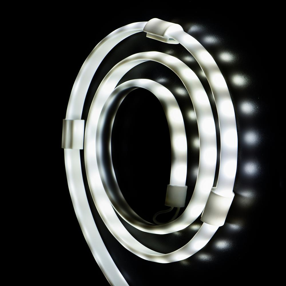 CE RoHs 5ft RGB LED Rope Lights Remote Control Portable USB Flexible Waterproof Camping Lantern LED Strip 2835 5050