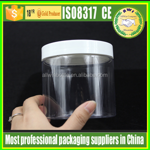 wholesale cosmetic packaging plastic 1oz 2oz 4oz 5oz 6oz 7oz 8oz 10oz PET jar and PET plastic jar for cosmetics