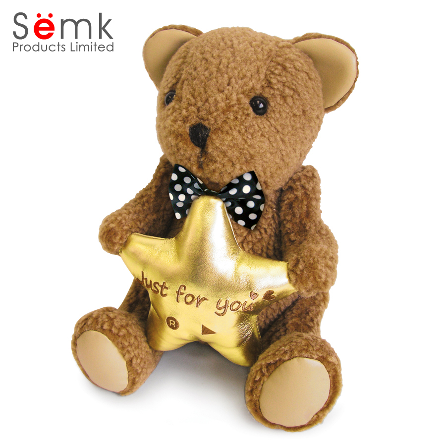 2017 newest Soft customized speaking and Voice recording plush teddy bear speaker