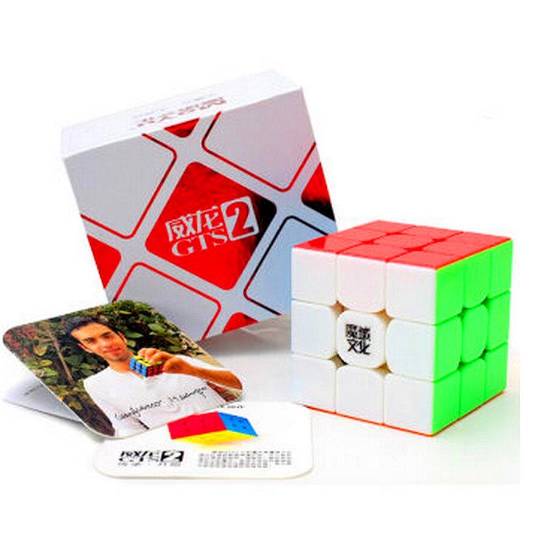 CuberSpeed MoYu WeiLong GTS2 stickerless 3x3 Magic cube MoYu WeiLong GTS V2 color 3x3x3 Speed cube Puzzle