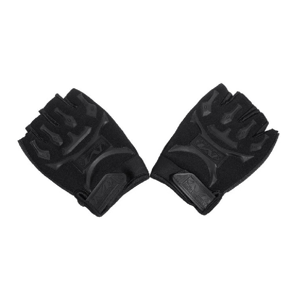 Tinksky Adjustable Cycling Gloves Anti-slip Cut-resistant Half Finger Gloves for Men Outdoor Sports Gloves 1 Pair(Black)