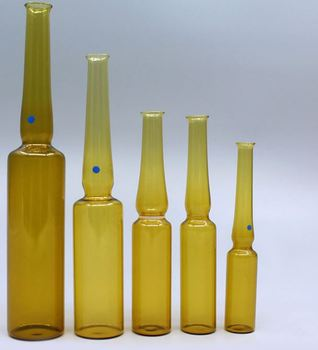 Glass ampoule bottle amber color with printing 2ml