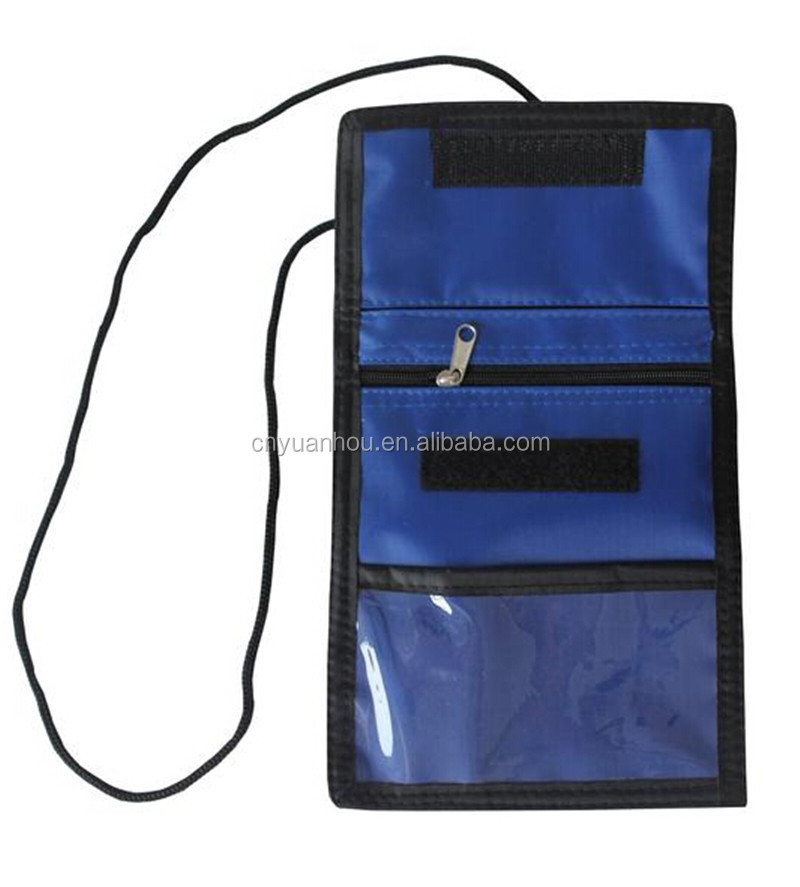 Wholesale Promotional Polyester Passport Holder Travel Ticket Wallet