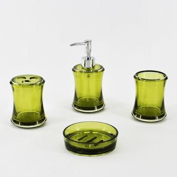 Classy Round Shape Olive Green Bathroom Accessory Set - Buy Green ...