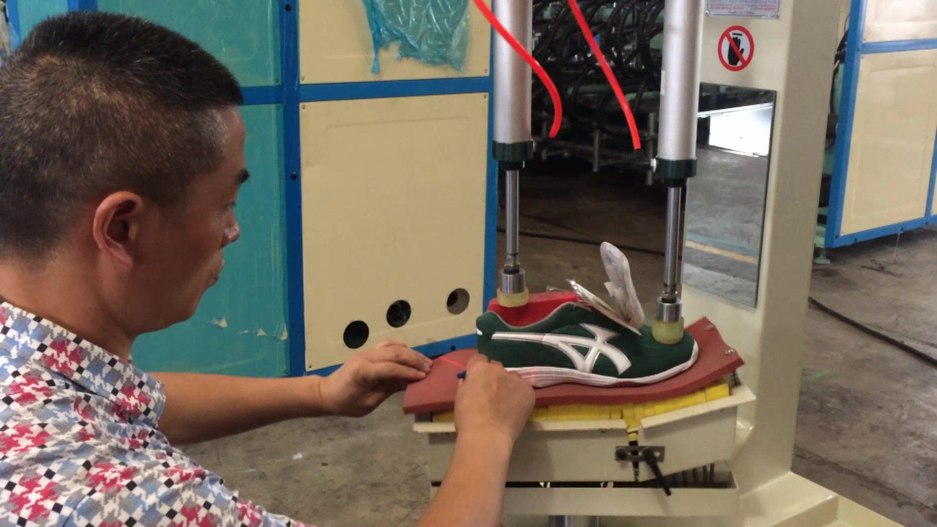 Marqueur-Chaussure Ligne de Production-Semelle Ligne Faisant La Machine-Auto-réglable semelle ligne d'assemblage machine de marquage