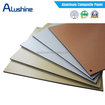 building material aluminum wall covering 4mm pvdf finish acp