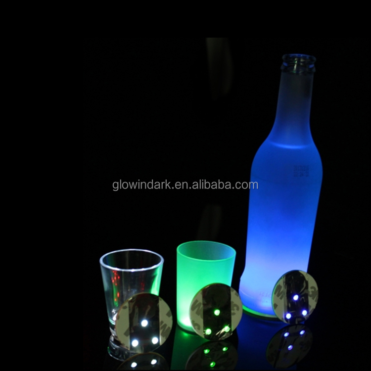 Brindes promocionais Fashional Personalizado UV Black Light Coaster Personalizado Brilham No Escuro, coaster led