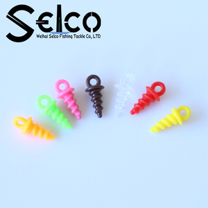 Colorful Carp fishing accessory plastic Boilie Screws bait screws 10mm
