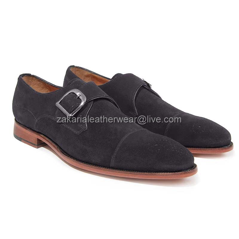 Dress Strap Men Leather Monk Stylish Shoes Handcrafted wUaXFxyq