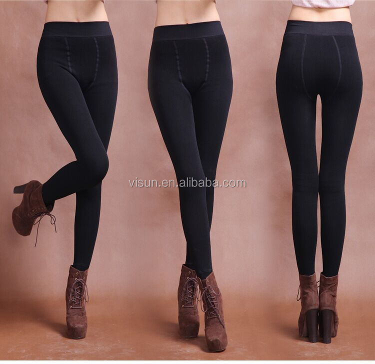 7d919dd82a1 Women Thick Warm Fleece Lined Fur Winter Sexy Tight Pencil Black Leggings  Pants