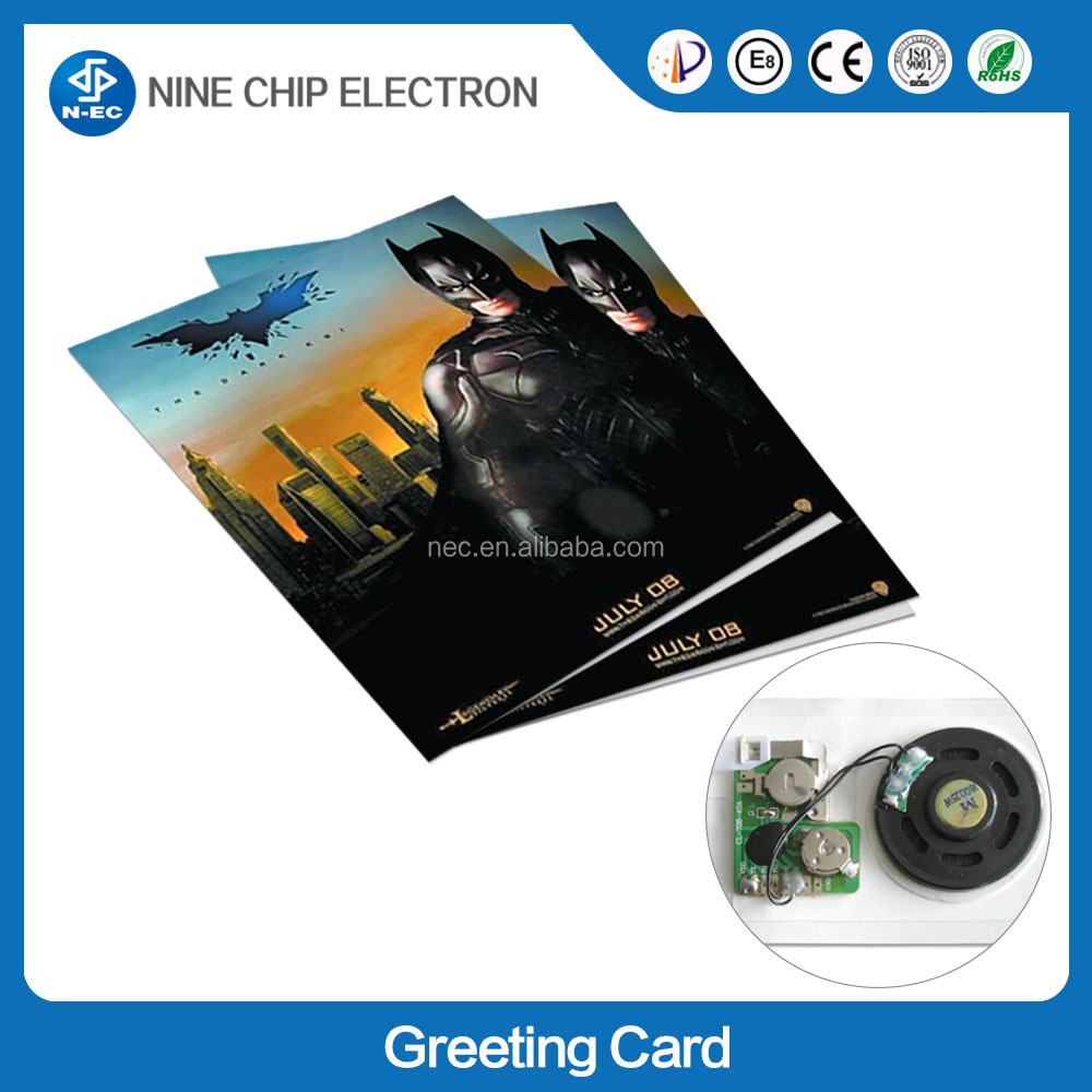 OEM ODM music greeting card recording device and record greeting card