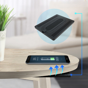 2019 new arrivals Qi portable space wireless charger used for restaurant stealth under desk
