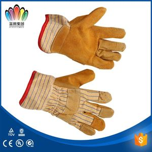 split leather welding gloves reinforced rope rescue gloves