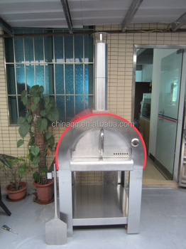 Kings Union New Design Wood Fired Stainless Steel Pizza Oven In Red Color