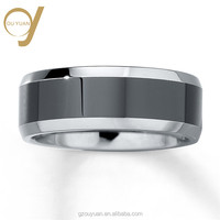 2018 Hot Sell New Design Jewelry Rings Engrave Cock Tungsten Ring With Diamond