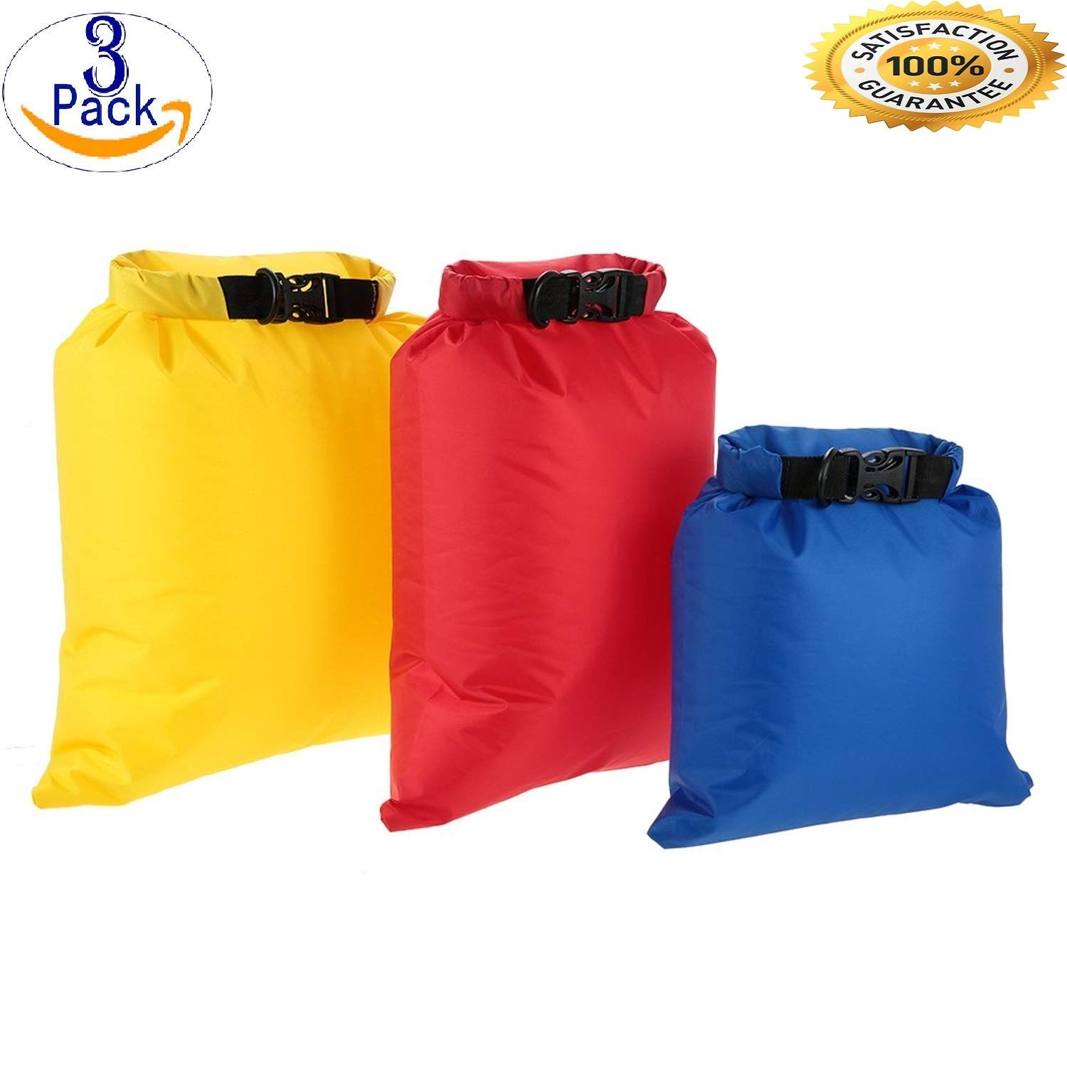 addb147bc53c Get Quotations · Pack of 3 lightweight waterproof Foldable pouch set pack  dry bag sacks Keep Your Phone License