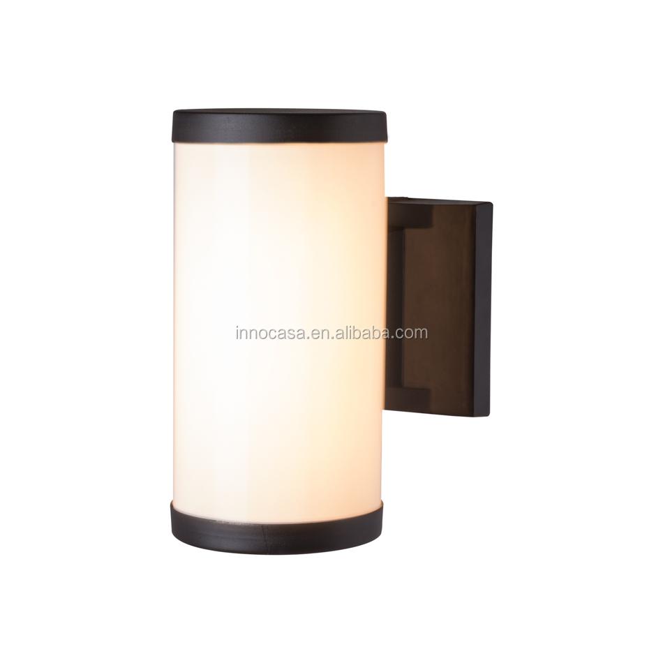 Popolare Nero Cilindrico HA CONDOTTO LA Lampada Da Parete Con Alluminio