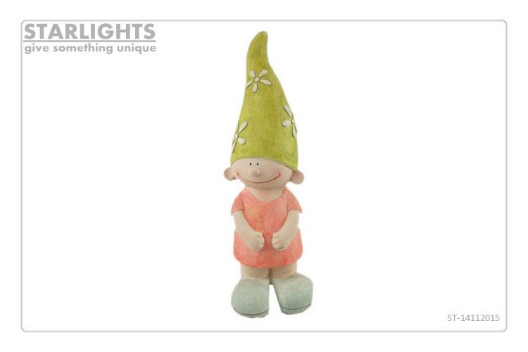 Promotional Garden Solar elfin statue for decor