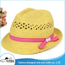 Top Class Quality Girls Wide Brim Straw Hat Foldbale Straw Hat