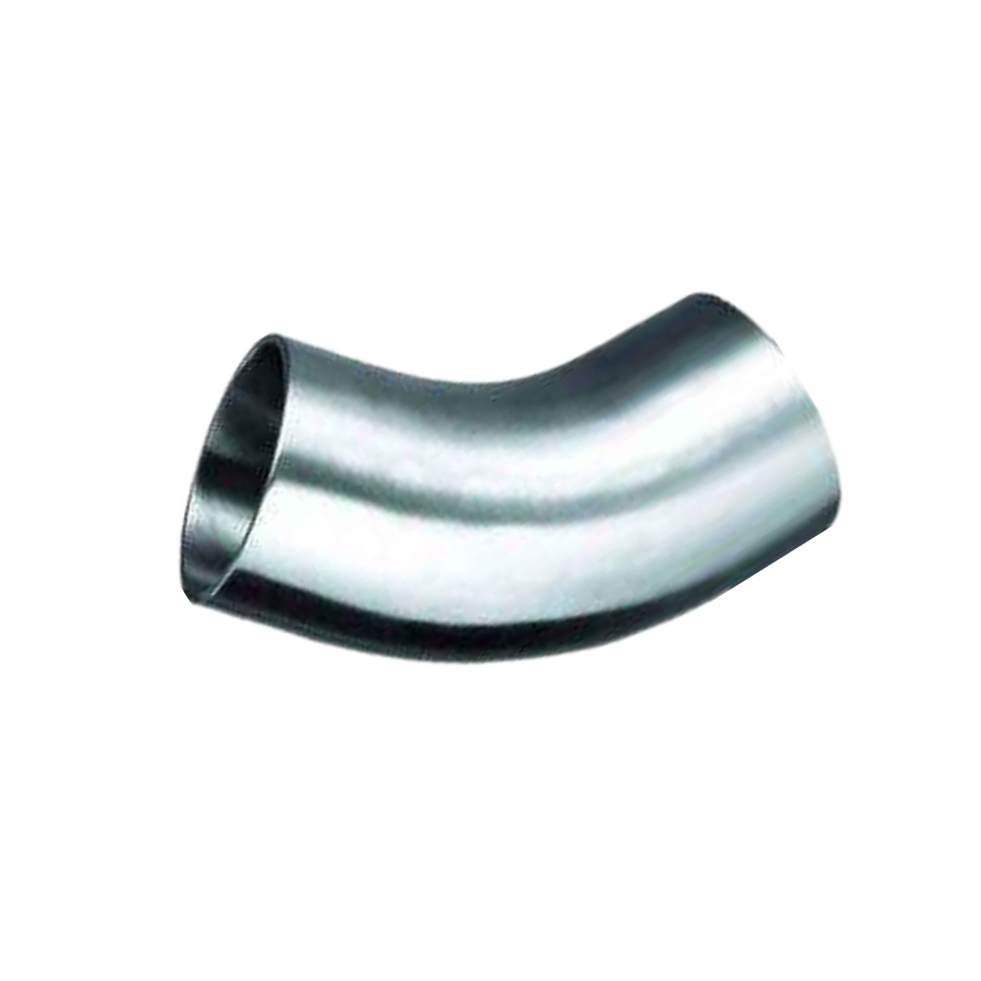 45 degree Stainless Steel Sanitary long radius Pipe Fittings Elbow for Connect Pipes