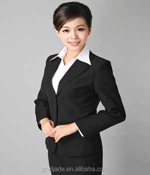 Latest Women Office Formal Blouse And Pants Uniform Ladies