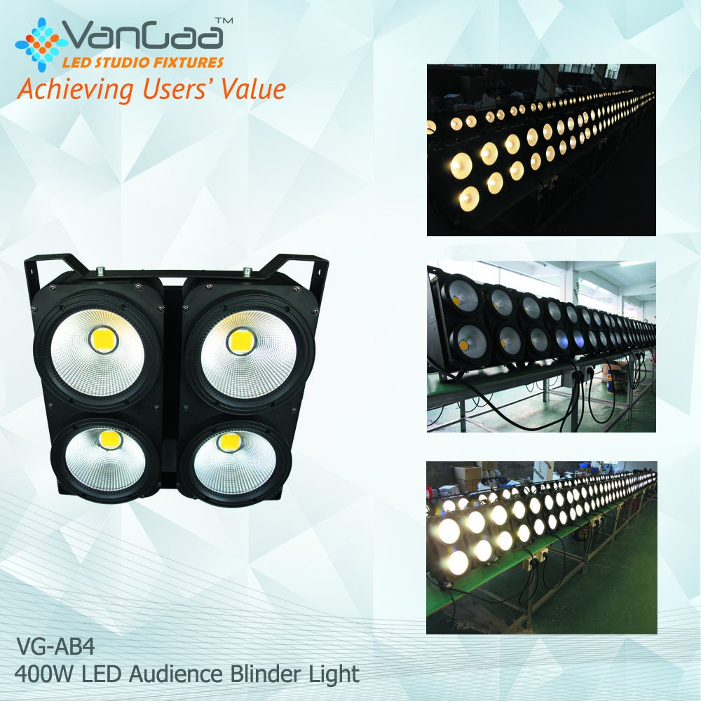 2017 most popular Led Audience Blinder Cob 4x100W