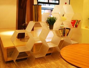Adjustable Honey Bookshelf