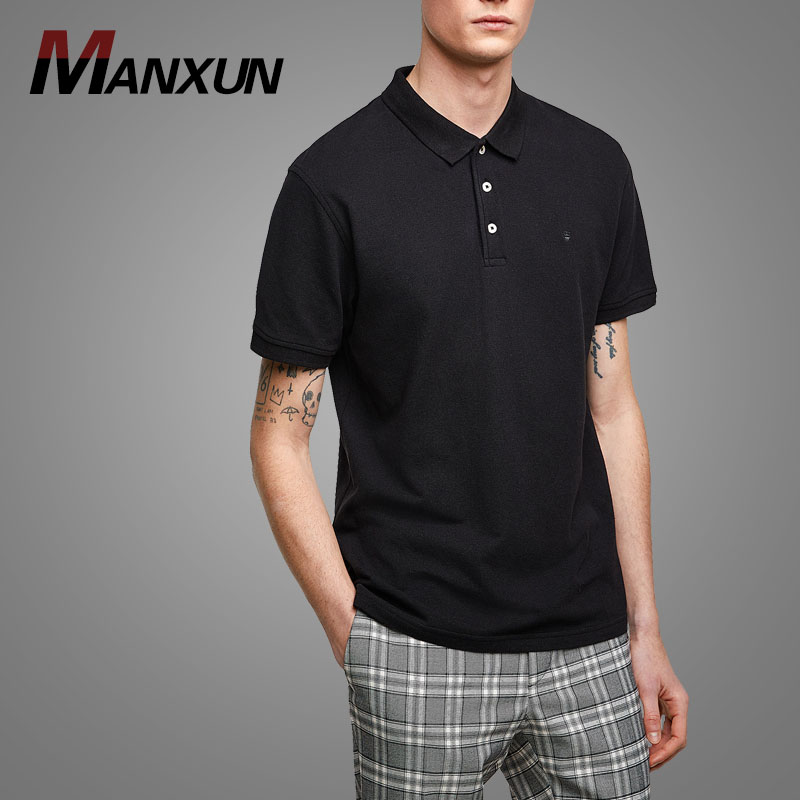Latest Polo Shirt Men 100 Cotton Long Sleeves T shirt In Miami Custom Logo Tshirts 2018