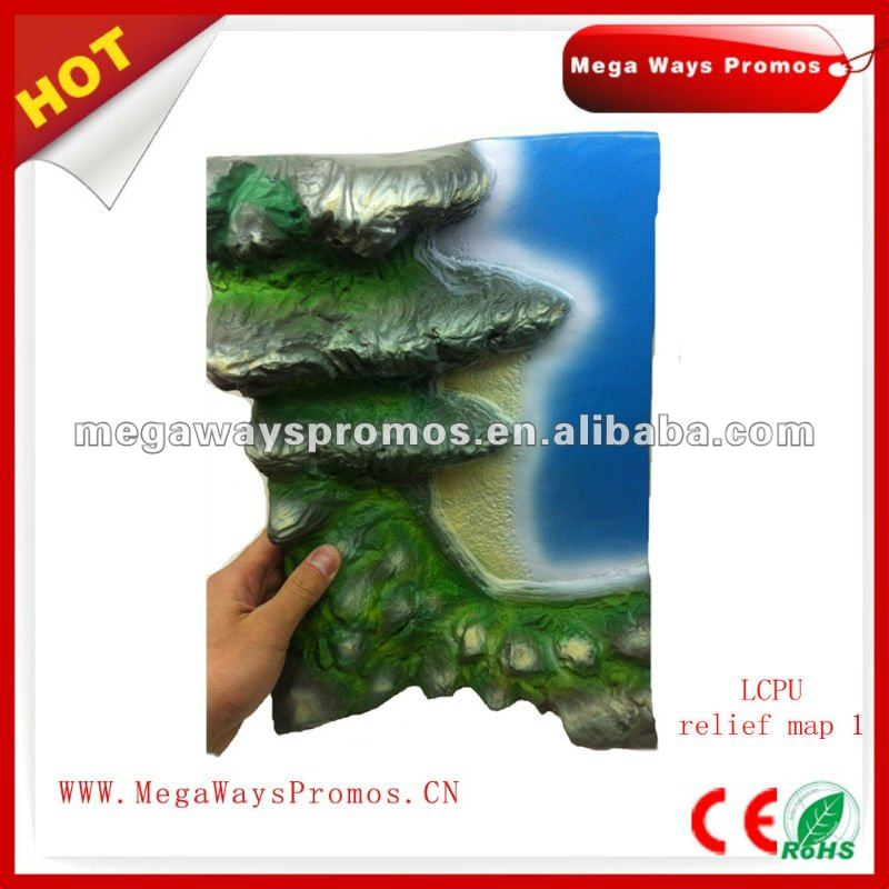 PU Relief Map Shape Stress Toy