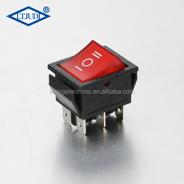 15a 250v Kn3c E-ten 1322 Toggle Switch 6 Pin Head 3 Grade Switch Double Pole Double Throw Toggle Switch Punctual Timing Switches