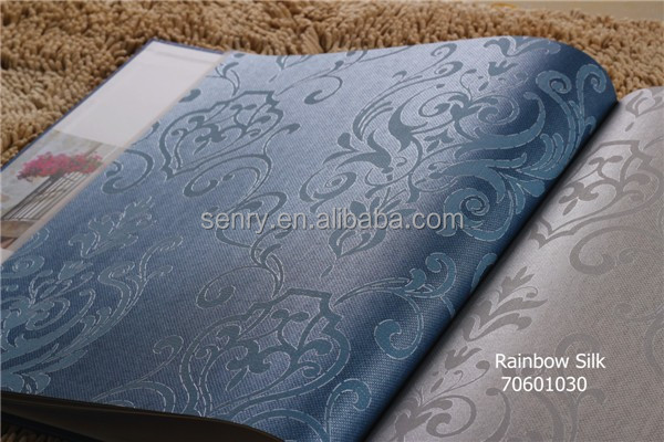 2014 new luxury non-woven wallcovering from China Rainbow silk