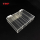 divided plastic small clear acrylic jewelry cosmetic makeup storage box with hinged lids