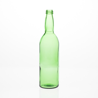 Custom Design 600 ml Unique Shape Glass Beer Bottle Green Red Wine Alcoholic Spirit Liquor Bottles